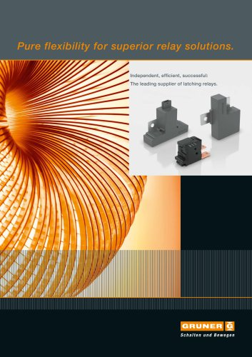 Pure flexibility for superior relay solutions.
