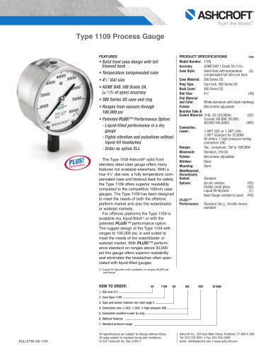1109 Pressure Gauge