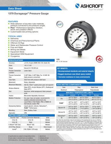 1379 Duragauge® Pressure Gauge