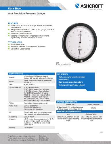 A4A Precision Pressure Gauge