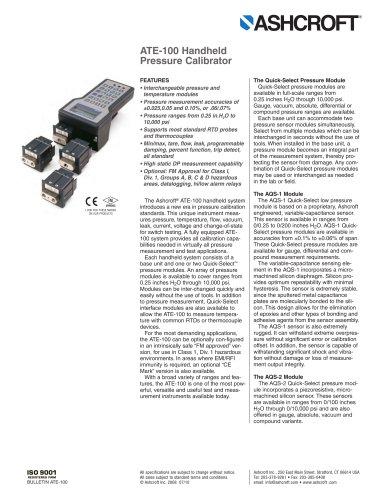 ATE-100 Handheld Pressure Calibrator