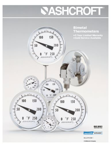 Bimetal Thermometers - Series CI