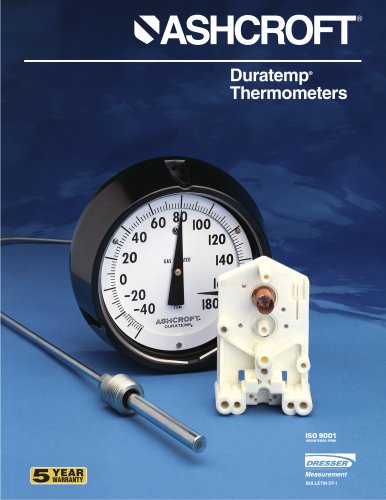Gas-Actuated Thermometers - Series 600A-01