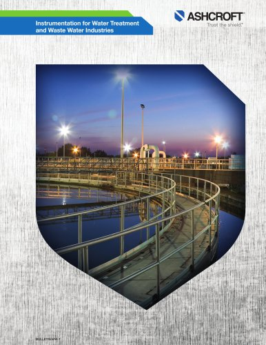 Instrumentation for water treatment and waste water industries
