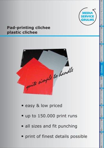 Pad-printing clichee