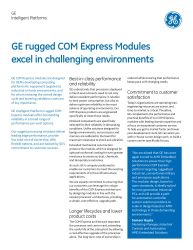 GE rugged COM Express