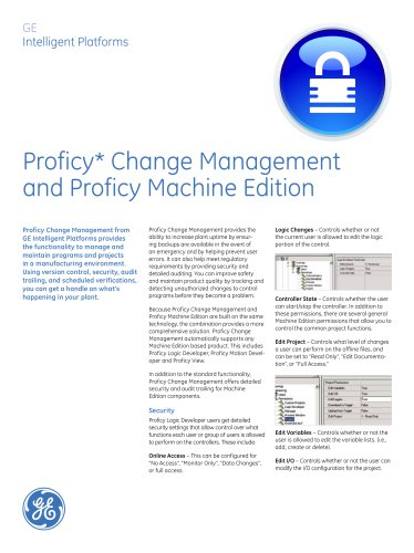 Machine Edition with Proficy Change Management