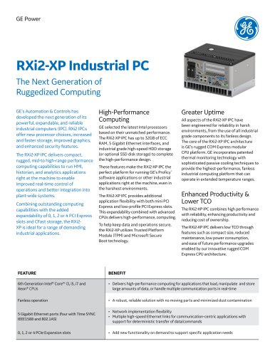 RXi2-XP Industrial PC