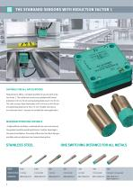 Sensors with reduction factor 1 - 4