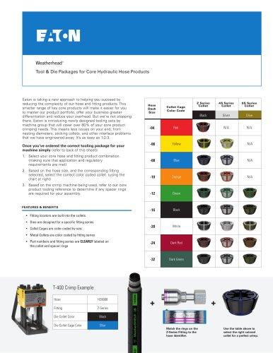 Eaton Weatherhead Core Tooling - Eaton Hydraulics - PDF