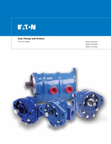 GEAR PUMPS AND MOTORS - Eaton Hydraulics - PDF Catalogs | Technical