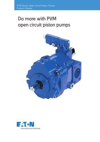 PVM Open Circuit Piston Pumps