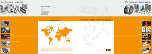 Innovative solutions for metal processing