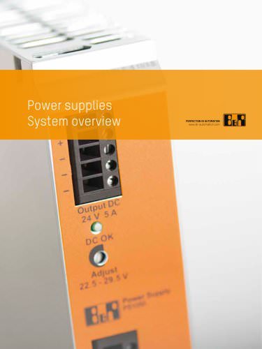 System overview: Power supplies