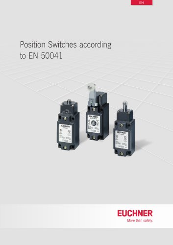 Position Switches according to EN 50041