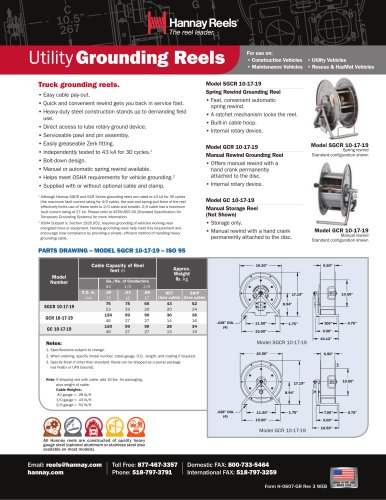 Hannay Utility Grounding Reels
