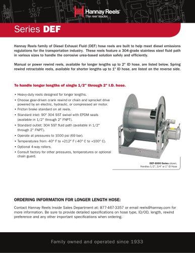 Series DEF Diesel Exhaust Fluid Transfer