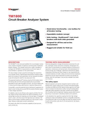Circuit Breaker Analyzer System | TM1800