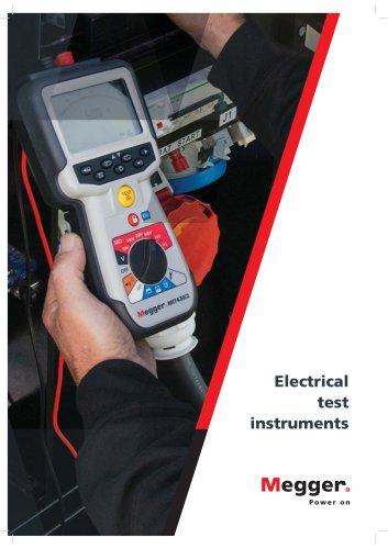 Low voltage test equipment catalogue 2017