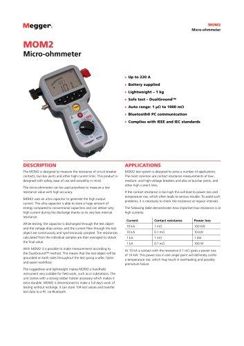 Micro-ohmmeter | MOM2