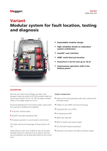 Modular system for fault location, testing and diagnosis | Variant