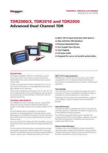 TDR2000/3, TDR2010 and TDR2050