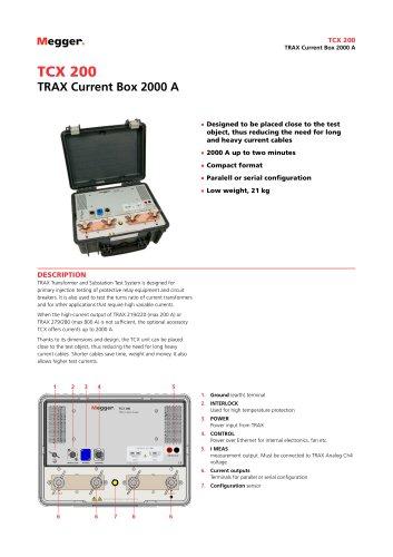TRAX Current Box 2000 A | TCX200