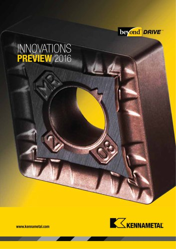Kennametal Innovations Beyond Drive Preview Edition Catalog