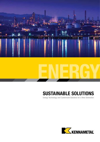 Kennametal Solutions for Energy Catalog