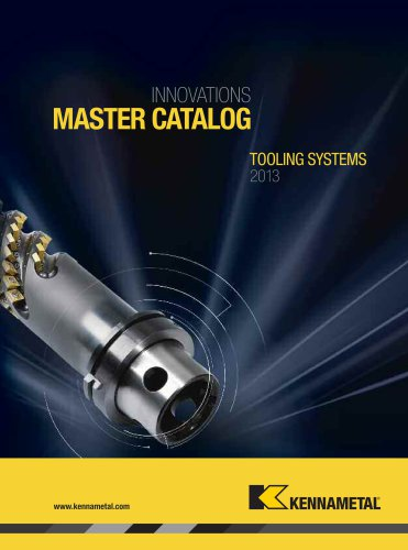 Tooling Systems 2013 Catalog Sections