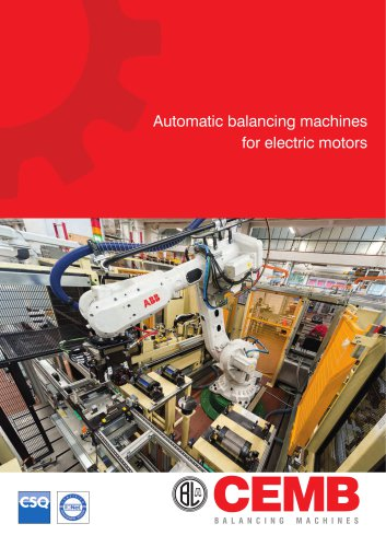 Automatic balancing machines for electric motors