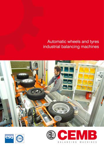 Automatic wheels and Tyres industrial balancing machines