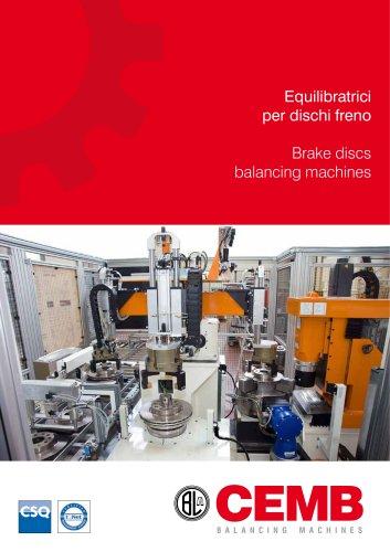 Brake discs balancing machines