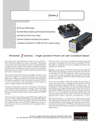 firestar-t: 60, 80 and 100W models