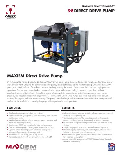 MAXIEM Pump - OMAX - PDF Catalogs | Technical Documentation