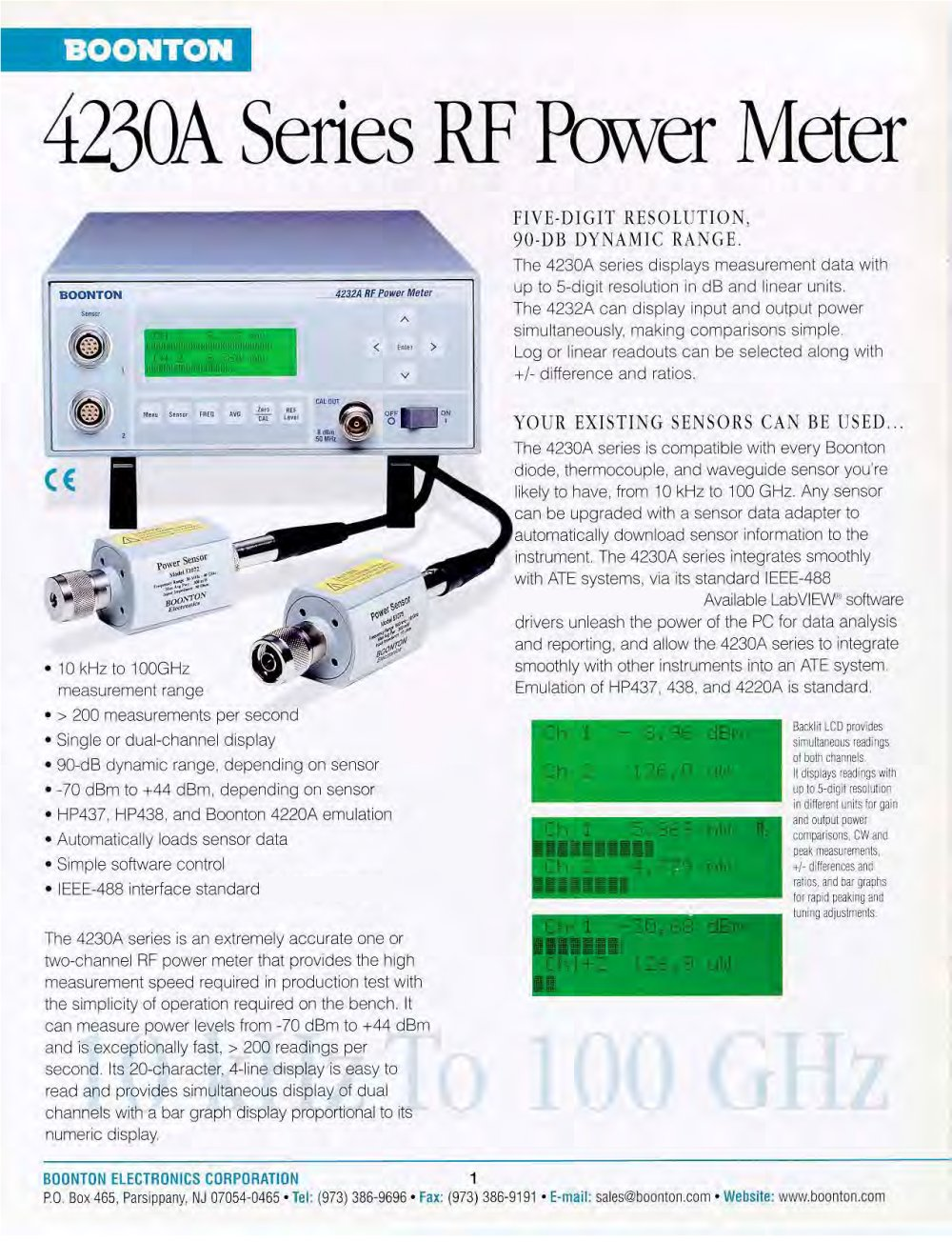 9230 Rf Voltmeter Boonton Pdf Catalogue Technical Millivoltmeter 1 5 Pages