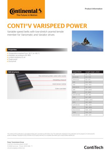CONTI®V VARISPEED POWER