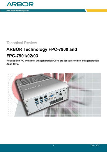 ARBOR Technology FPC-7900 and FPC-7901/02/03