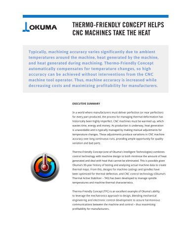 THERMO-FRIENDLY CONCEPT HELPS CNC MACHINES TAKE THE HEAT