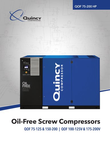 Oil-Free Screw Compressors QOF 75-125 & 150-200 | QOF 100-125V & 175-200V