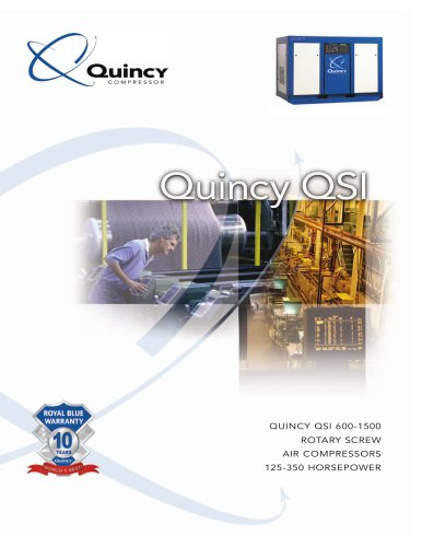 Quincy 125-350 HP Industrial Lubricated Screw Compressor Brochure