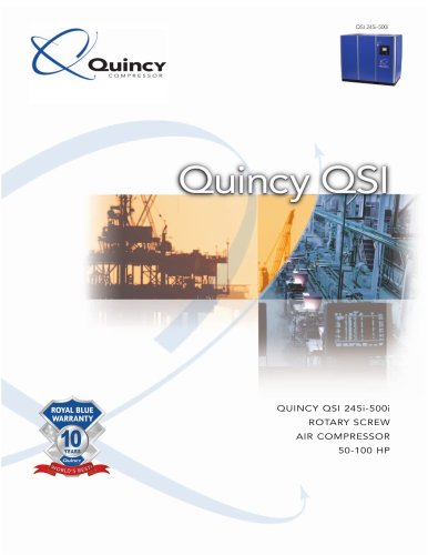 Quincy 50-100 HP Industrial Lubricated Screw Compressor Brochure