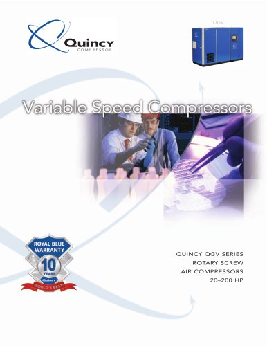 Quincy QGV 20-200 HP Variable Speed Screw Compressor Brochure