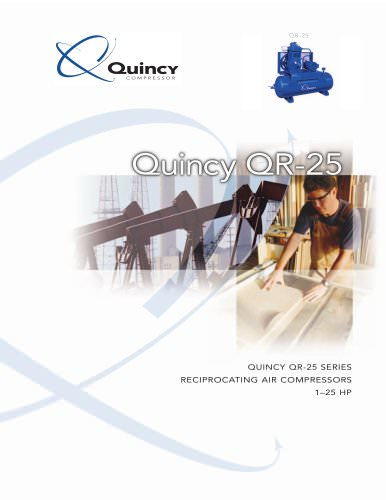 Quincy QR-25 1-25 HP Two-stage Industrial Reciprocating Compressor Brochure