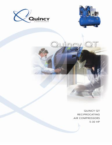Quincy QT 5-30 HP Two-stage Industrial Reciprocating Compressor Brochure