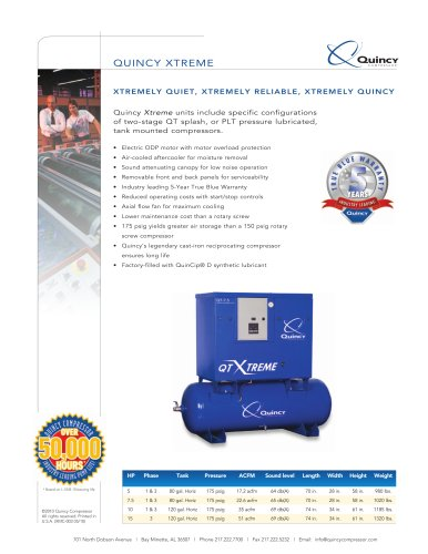 Xtreme Two-Stage Reciprocating Compressor Brochure