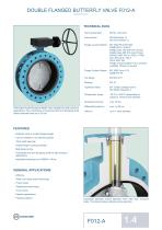 DOUBLE FLANGED BUTTERFLY VALVE F012-A