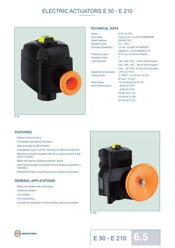 ELECTRIC ACTUATORS E 50 - E 210