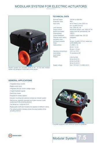 MODULAR SYSTEM FOR ELECTRIC ACTUATORS