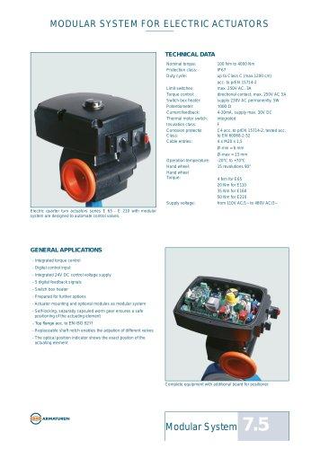 Technical Datasheet Modul System EBRO